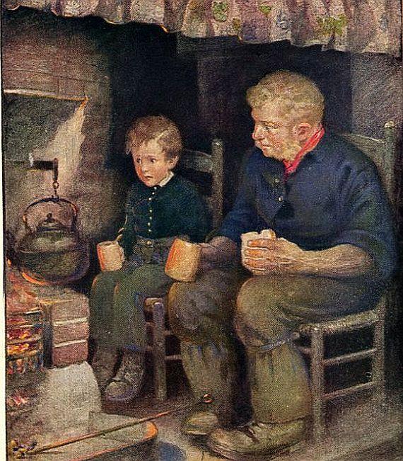 1925, Jessie Willcox Smith, The Children of Dickens,  Antique / Vintage Art Print, Pip, Joe Gargery