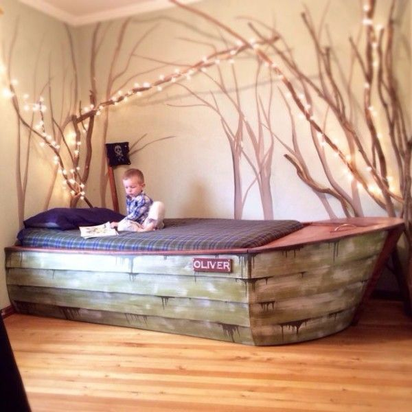 This Is A Great DIY Project For Childs Pirate Ship Bed