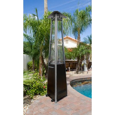 AZ Patio Heaters Commercial Glass Tube Propane Patio Heater Finish: Bronze  HLDS01 CGTHG,