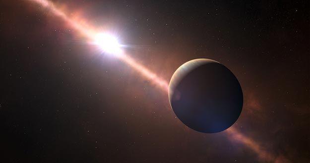 Impresión artística del planeta Beta Pictoris b