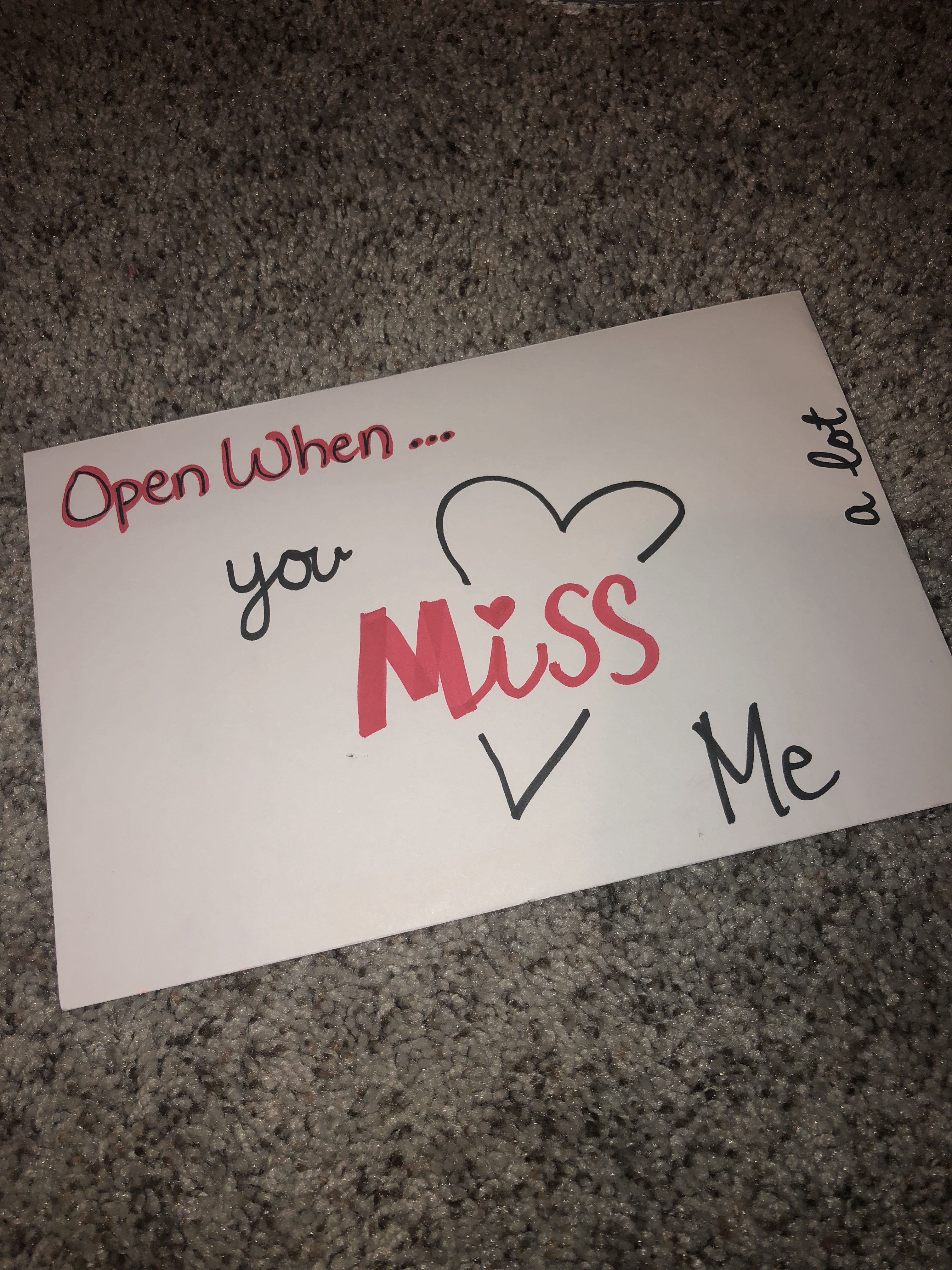 Open when you miss me a lot | Open when letters, Open when