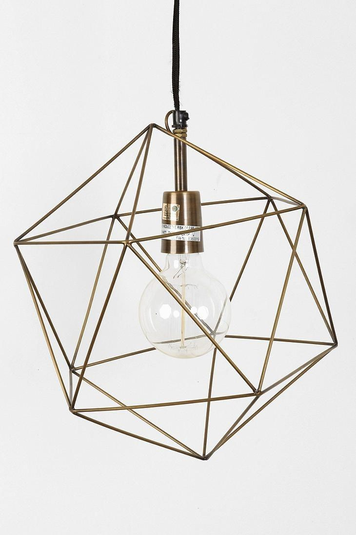 Back to brass low cost lighting with high style appeal