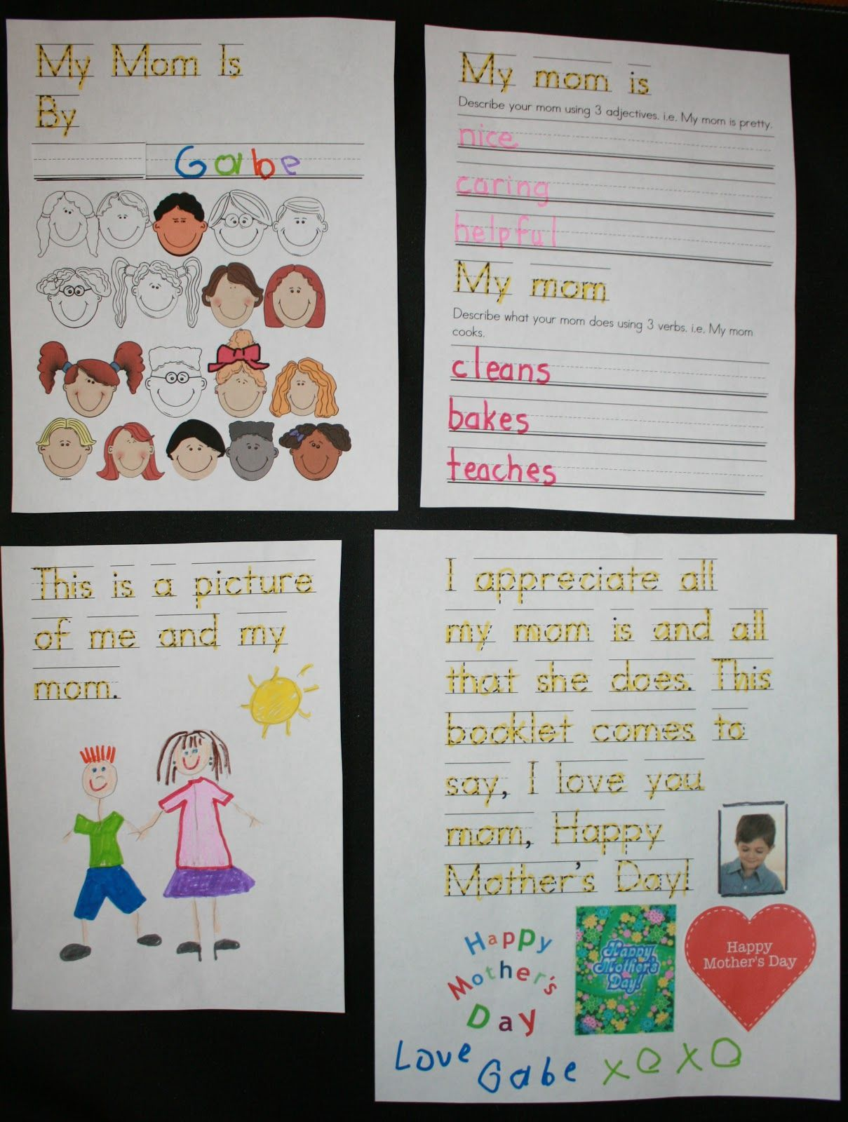 Adjectives To Describe My Mom : adjectives, describe, Mother's, Reader, Booklet, Activities,, Mothers, Crafts,, Funny