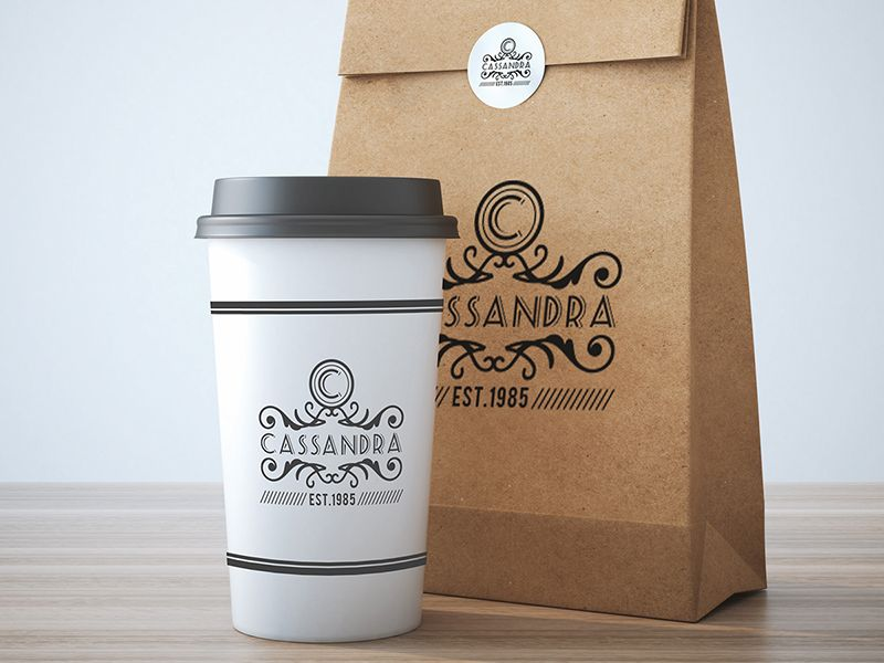 Download Take Away Coffee Cup And Bag Mock Up Design Free Psd Take Away Coffee Cup Coffee Packaging My Coffee Shop