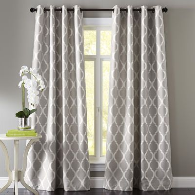 Moorish Tile Curtain Gray Pier One