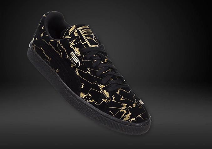 newest f8fcb 6646d Puma Suede Brush Emboss Metallic Gold Black 36150401   PUMA SNEAKERS ...