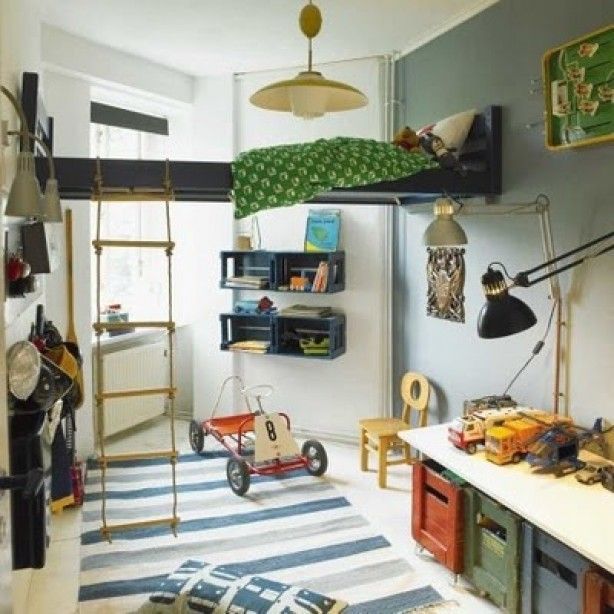 Gaaf idee voor kleine jongenskamer awesome pinterest kids rooms room and boys - Kleine kamer idee ...