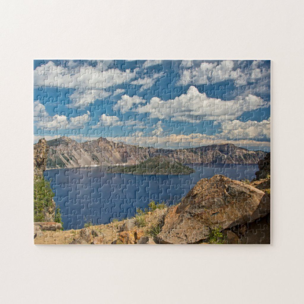 Crater Lake and Wizard Island, Crater Lake Jigsaw Puzzle