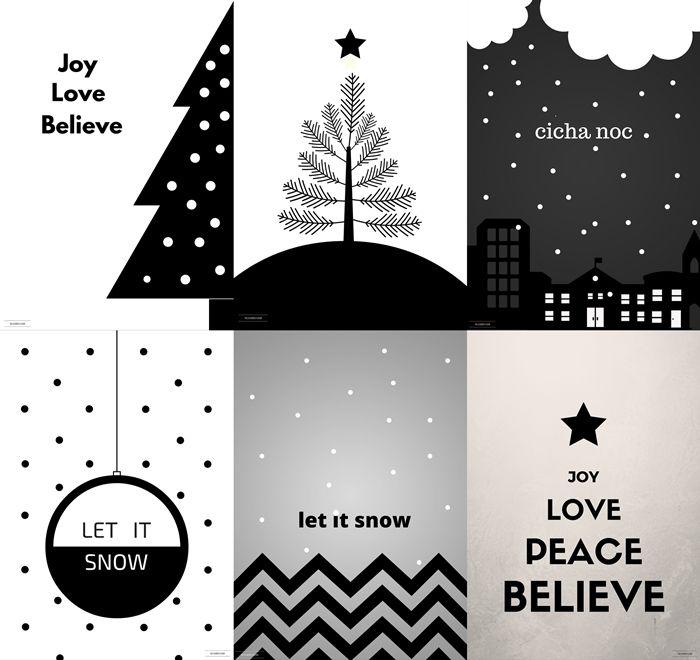 Free Printable Plakaty Do Druku Christmas Poster Dekoracje Swiateczne Bozenarodzenie Plakater