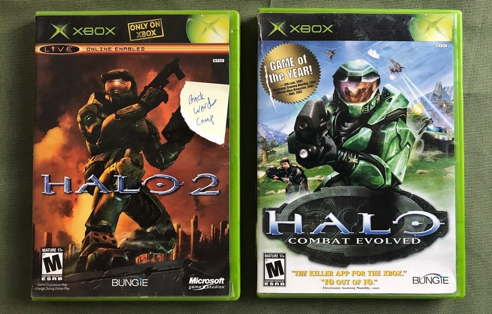 Lot Of 2 Games Halo 2 Halo Combat Evolved Original Xbox Game
