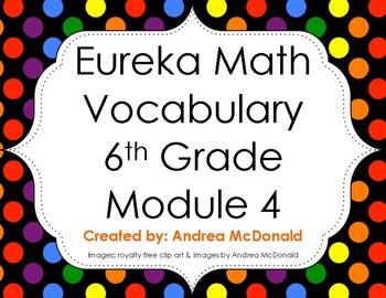 Eureka Math / Engage NY - Vocabulary 6th Grade Module 4