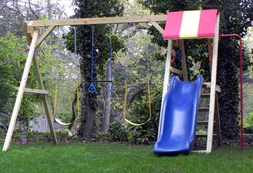 Jungle Swingset Slide 10 Foot Tall Build Your Own With Kit