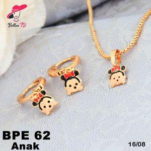 Perhiasan Set Xuping Emas Micky Mouse Lapis Emas 18K PE 62 ...