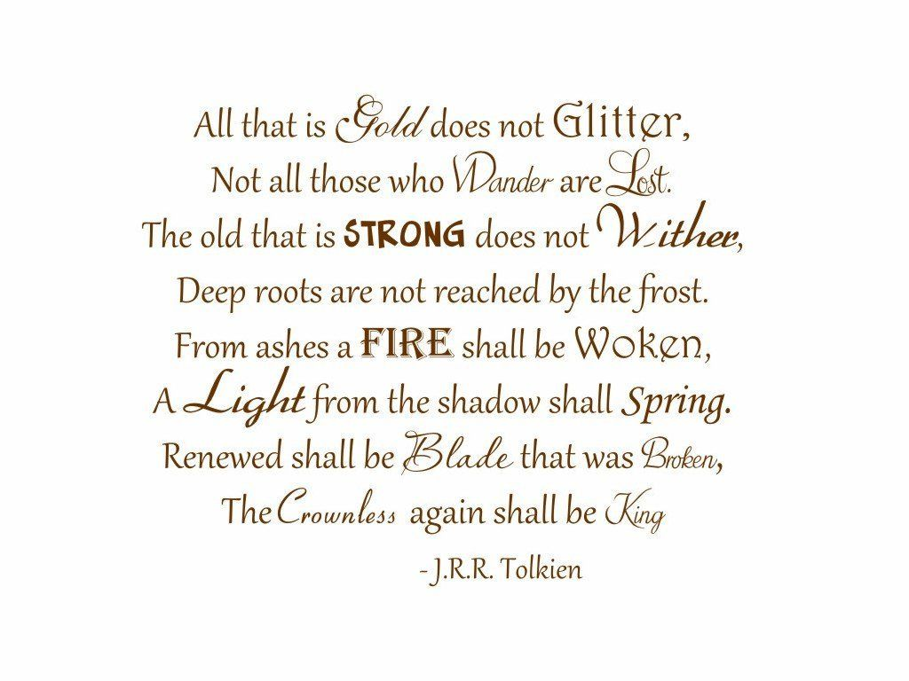 Amazon Com All That Is Gold Does Not Glitter Tolkien Vinyl Wall
