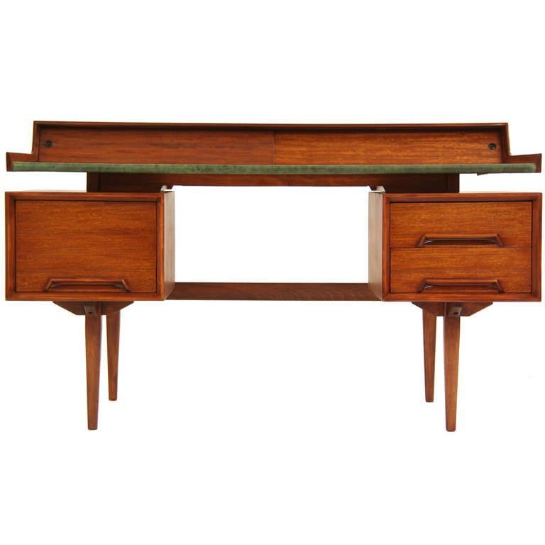 "Drexel ""Perspective"" Floating Top Desk by Milo Baughman, ca.1950's"