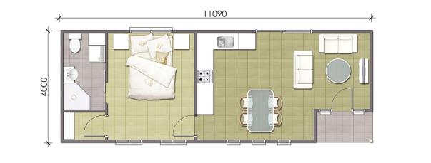 1 Bedroom Granny Flat Designs | Master Granny Flats
