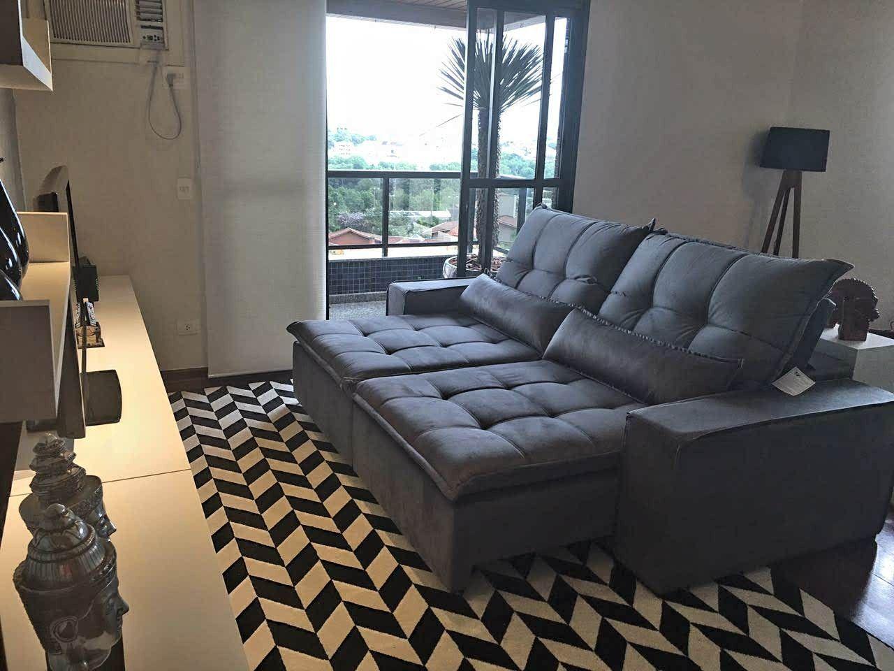 Sala de cliente Casa Ramos Sofás Sofá retrátil e reclinável com ...