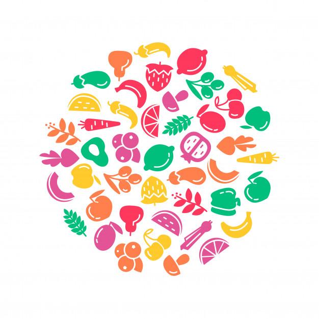 有機的な世界の健康の日 果物と野菜の背景イラストを無料でダウンロード 果物と野菜 果物 健康