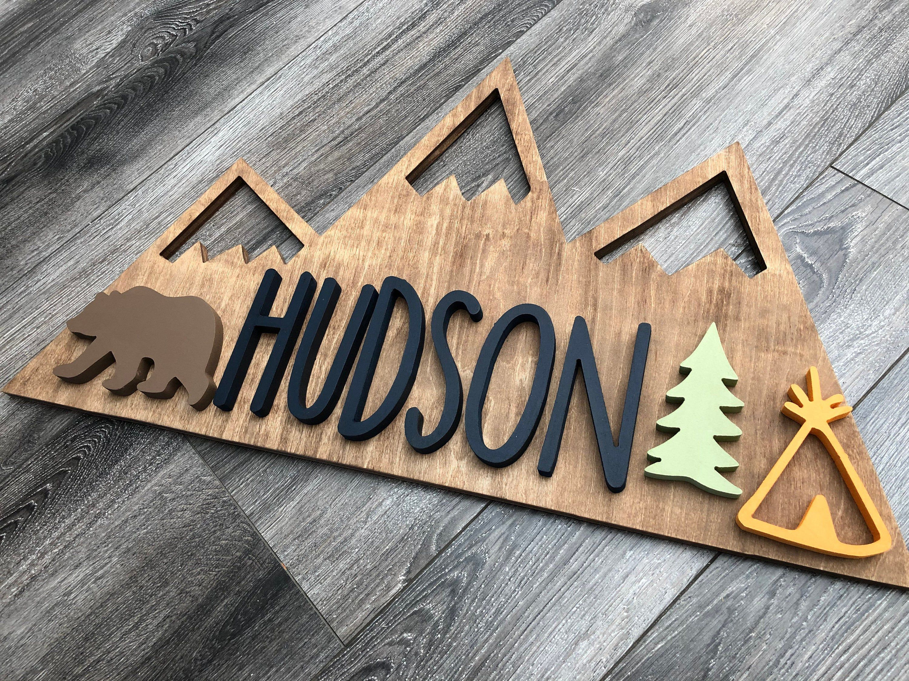 Photo of Woodland Nursery + Mountains Wood Sign + Home Decor + Custom Wood Sign +  Explore Mountains + Nurser