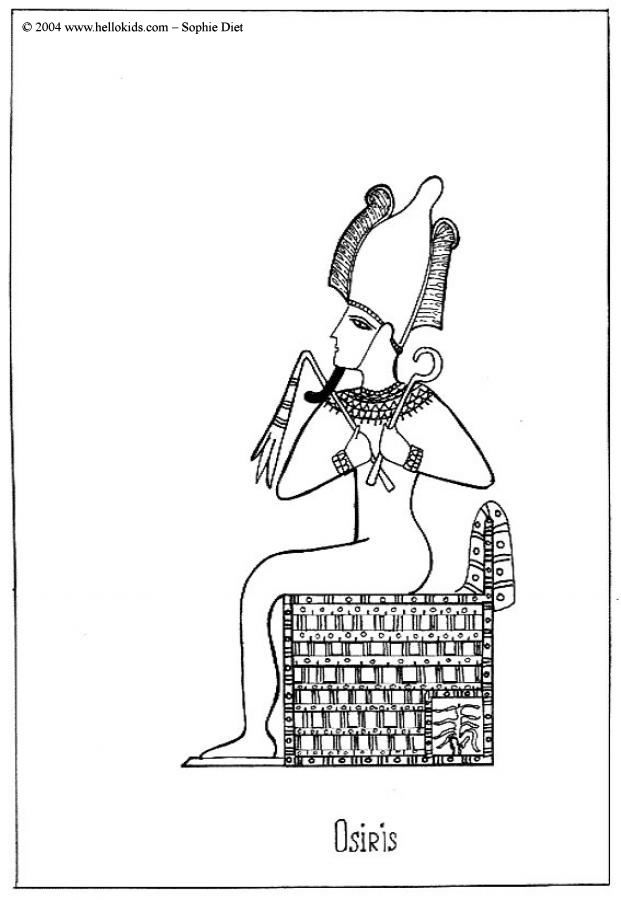 Osiris coloring page Ancient Egyptian Art always uses a