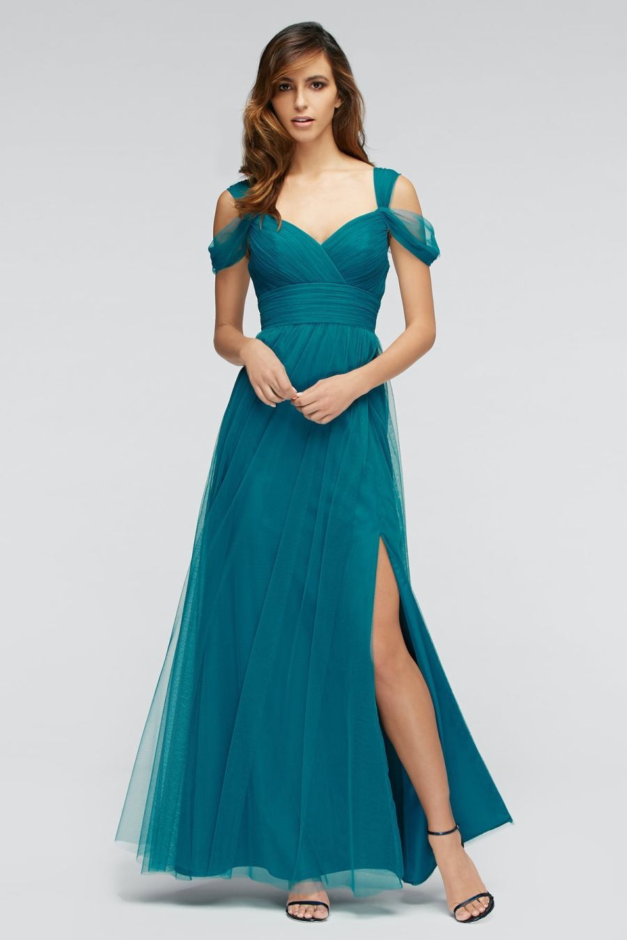 Size 10 Viridian Watters 1309 Gladiola V Neck Bridesmaid Gown ...