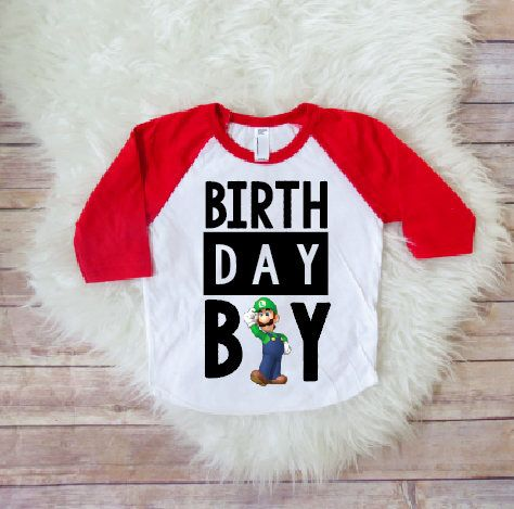Super Mario Brothers Birthday Shirt Birthday Boy Shirt Super Mario