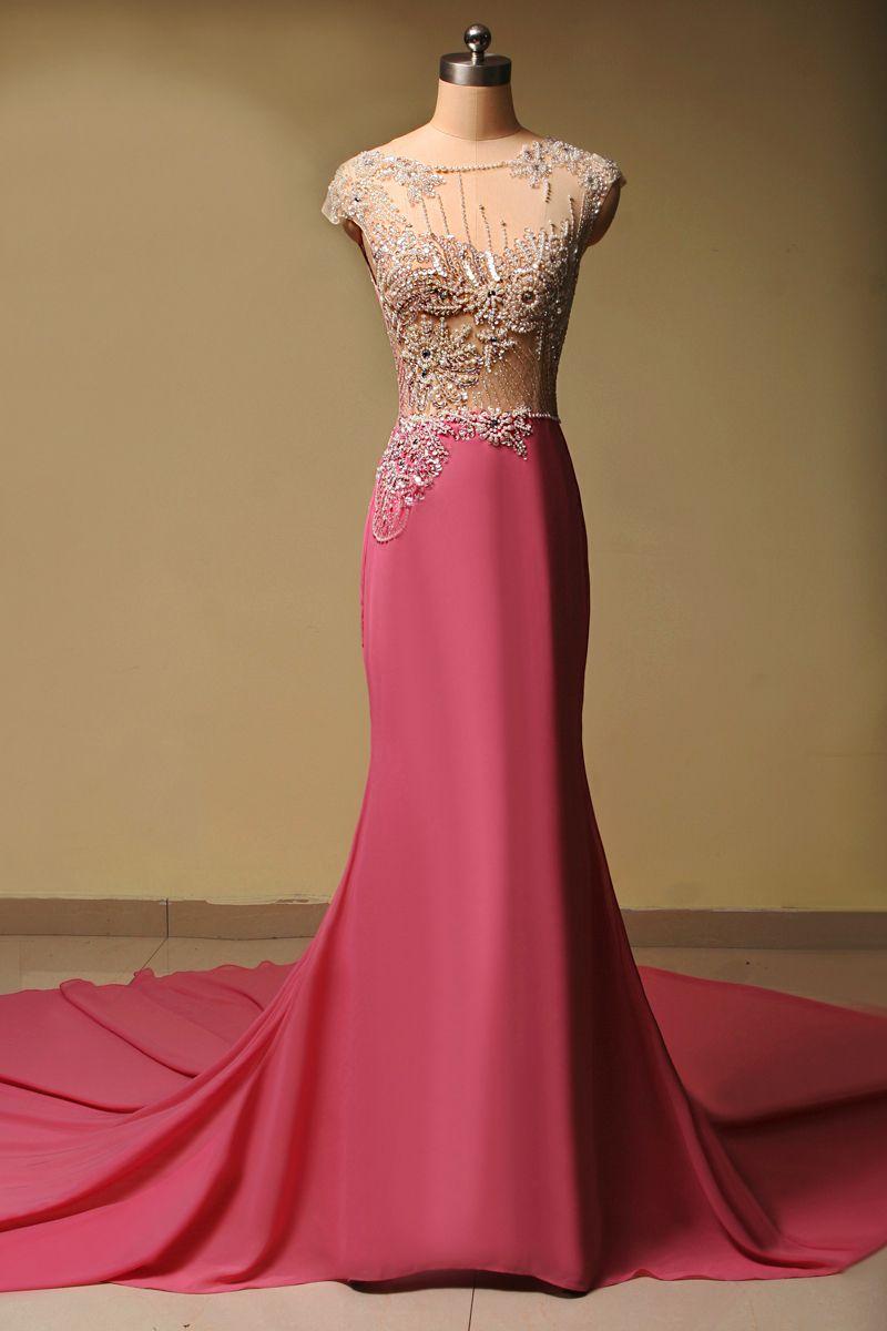 Vestido de Festa Curto Renda Long Prom | Dresses | Pinterest | Traje ...