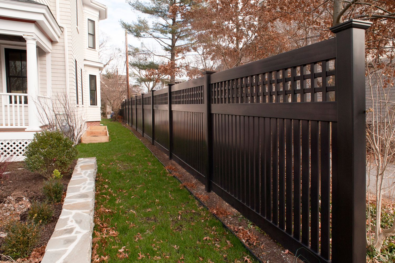 black vinyl privacy fence. Illusions Black Vinyl Pvc Semi Privacy Fencing Panels 2 Fence .