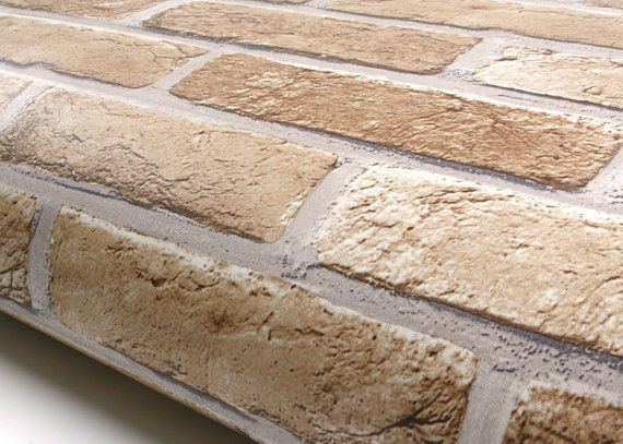 Roserosa Peel And Stick Flame Retardation Pvc Brick Etsy In 2021 Faux Brick Backsplash Faux Brick Peel Stick Backsplash