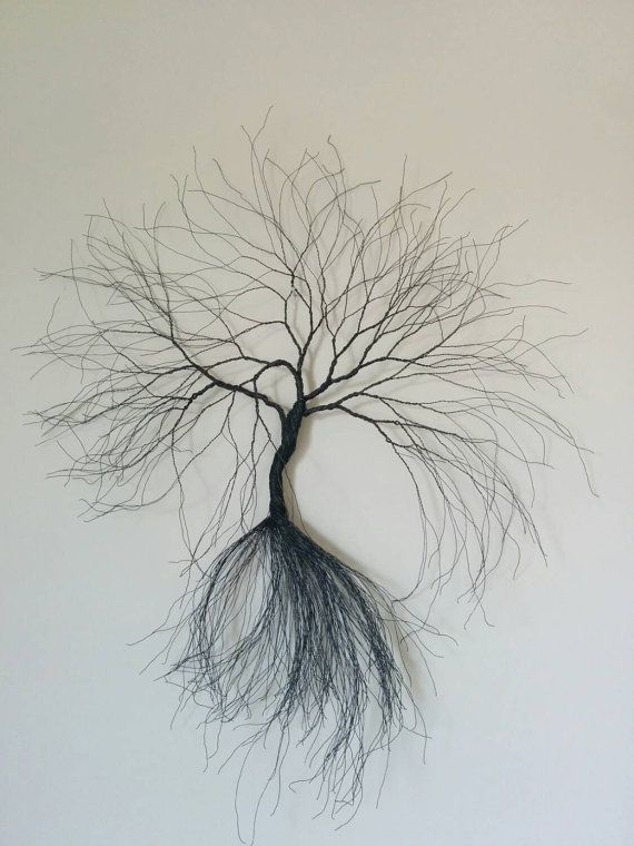 Custom Made Wire Wall Art Tree Wire Art Metal Sculpture Home Decoration Wall  Decoration Wire Art Tree Sculpture