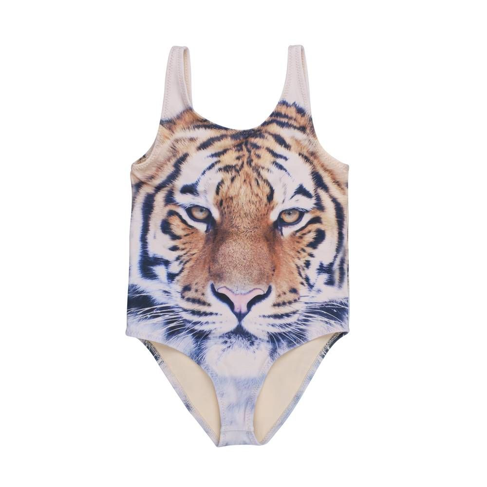 Badpak Tijgerprint.Popupshop Swimsuit Tiger My Girl Toddler Swimsuits Baby Girl