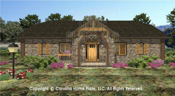 3d Images For Chp Sg 1576 Aa Small Stone Cottage 3d House Plan Views 3d House Plans Stone Cottage Dream House Plans