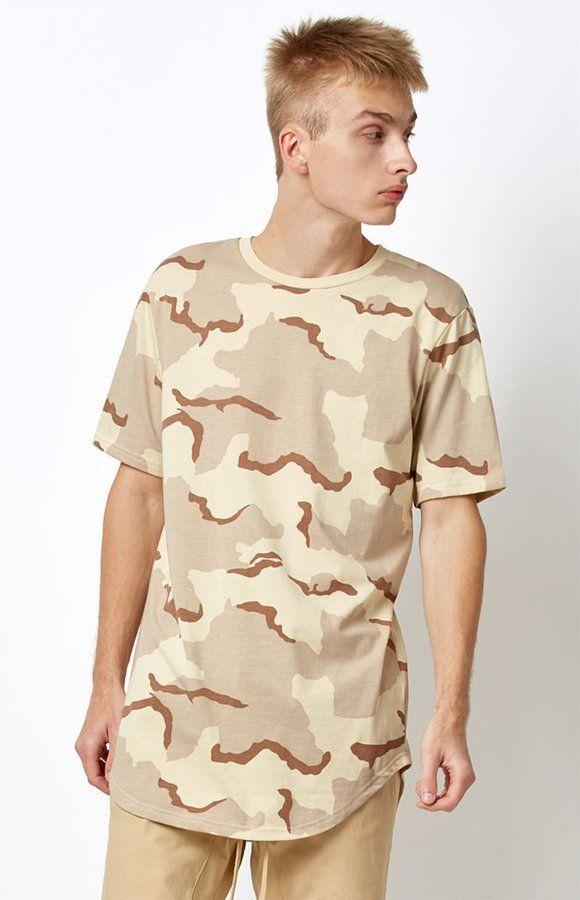 c5d41a872 PacSun All Day Camouflage Scallop T-Shirt Male Fashion and Men Style. Klick  to see a Price