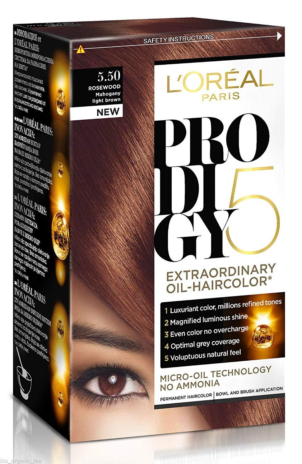 L Oreal Prodigy Permanent Hair Colour Micro Oil Technology No Ammonia 5 50 Mahogany Light Brown Find Out More About Hair Color Loreal Permanent Hair Color