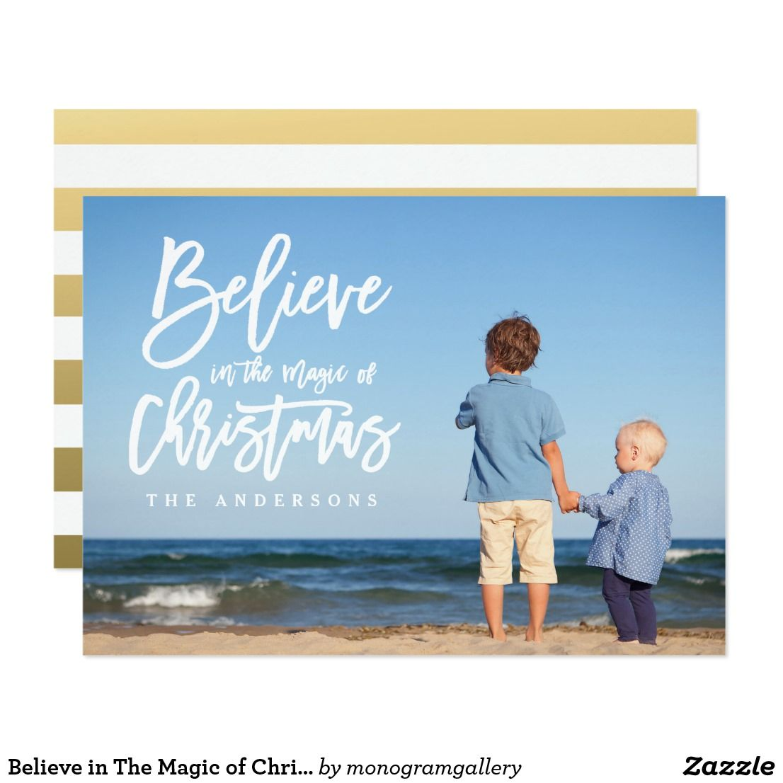 Believe in The Magic of Christmas Holiday Photo Card | Christmas ...