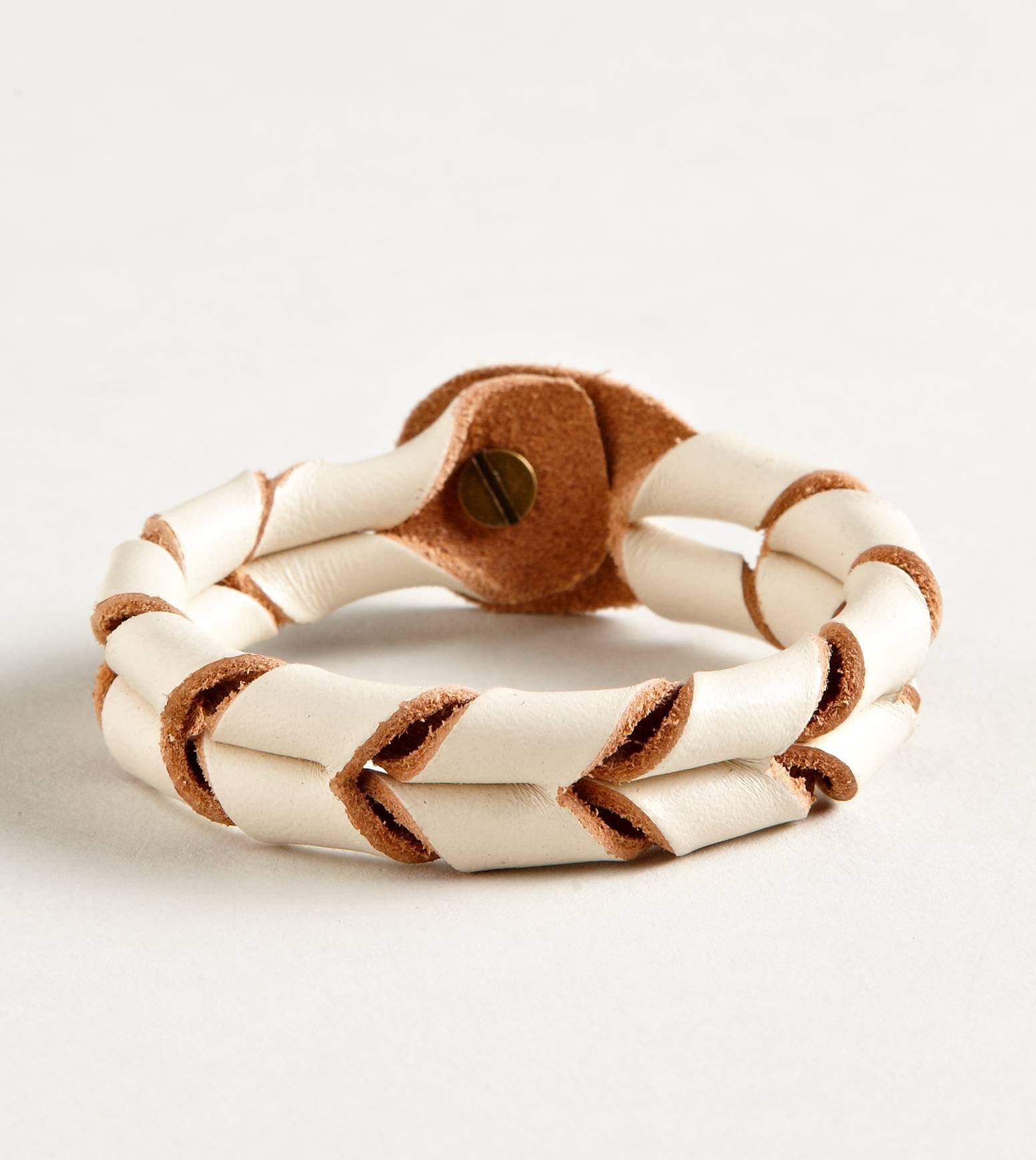 American Eagle twisted chevron leather bracelet
