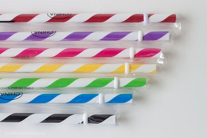 Coloured Mason Straws
