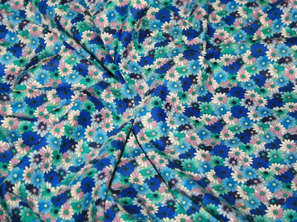 Mini Floral Print Cotton Poplin Fabric | Fabric | Dress Fabrics | Minerva Crafts