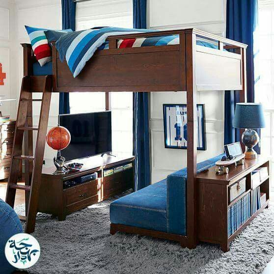 Kids Room Boys In 2020 Bunk Beds With Stairs Loft Spaces