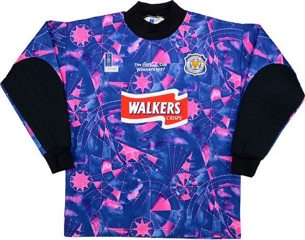 c3c313557b940 Leicester City's Goalkeeper Shirt, 1997.   90s Football, The Rest ...