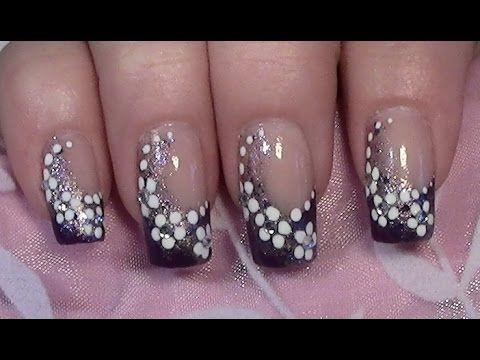 Lila bl mchen nageldesign zum selber machen mit nagellack purple flower nail art design - Nageldesign zum selber machen mit nagellack anleitung ...
