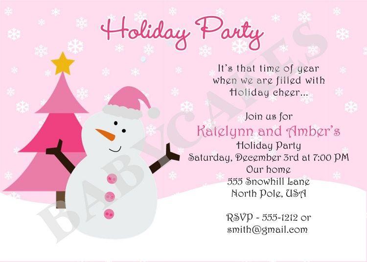 Holiday Party Invitation Wording Funny Christmas Party Invitation