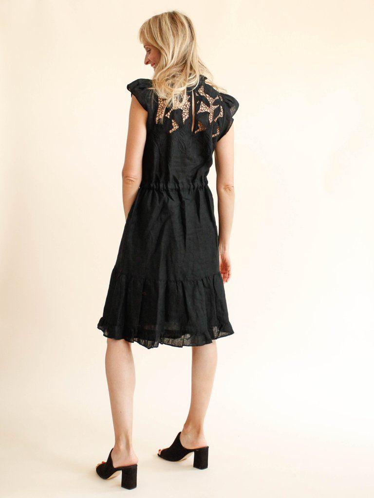 bca6f55d0a Ulla Johnson - Linen Lace Amelie Dress - Jet - MILLE