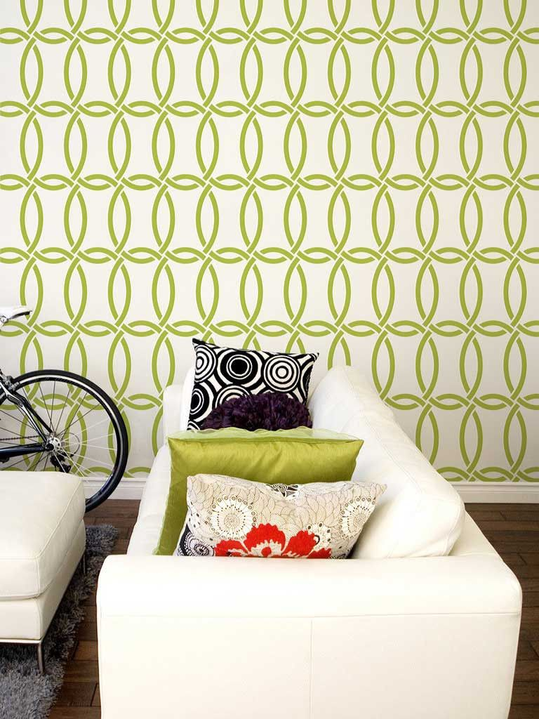 Chain Link Stencil | Modern wallpaper, Stenciling and Wallpaper