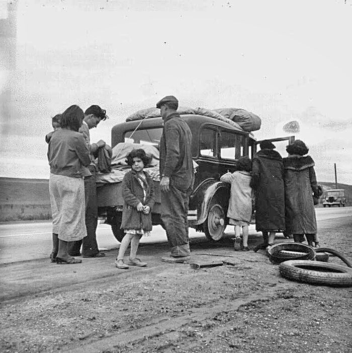 THE GRAPES OF WRATH: Okies On the Road to the Promised Land | Dust bowl,  Dorothea lange, History
