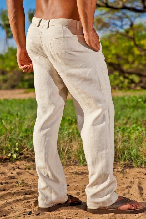 f3601fde71 Linen Amalfi Pant in 2019 | Beach clothes | Mens linen outfits, Mens ...