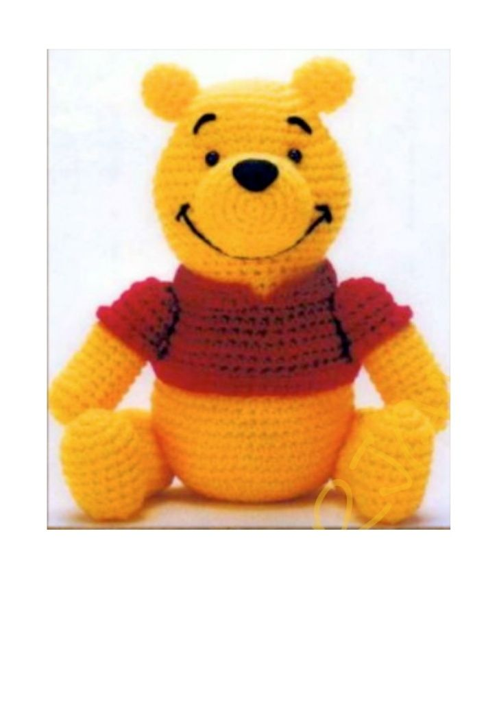 Winnie pooh | вязаная игрушка | Pinterest | Patrón de ganchillo ...