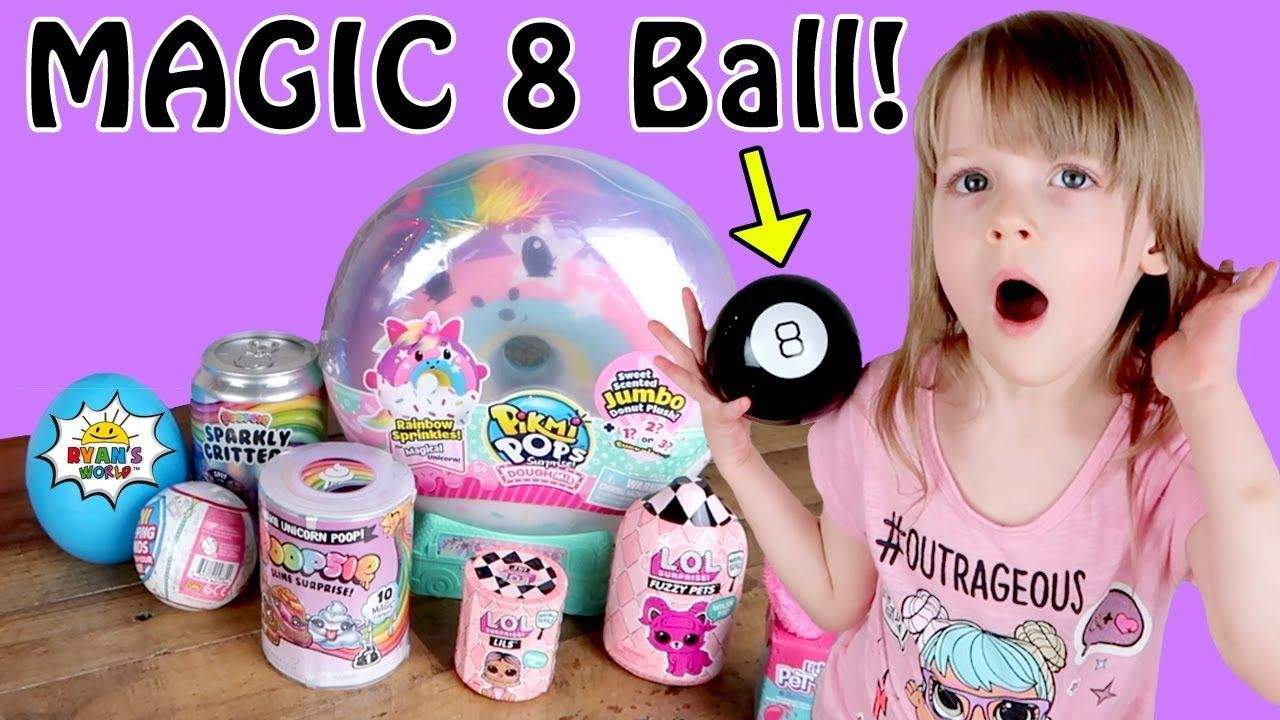 Magic 8 Ball Picks Our Toy Unboxing With Custom Ryan S World L O L Su Magic 8 Ball Toys For Girls Ball
