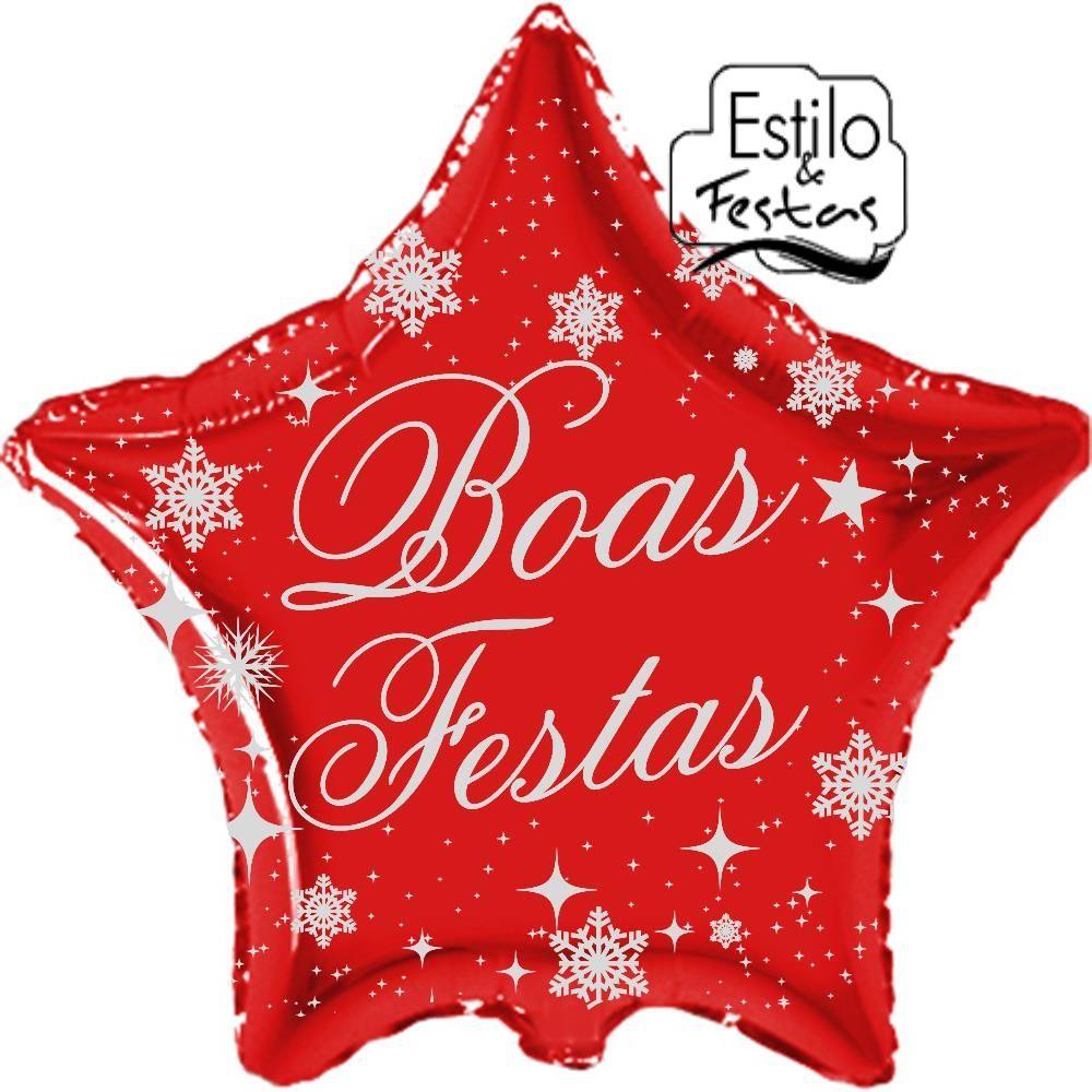Balão Estrela Boas Festas de Ano Novo | Balão de festa ano novo