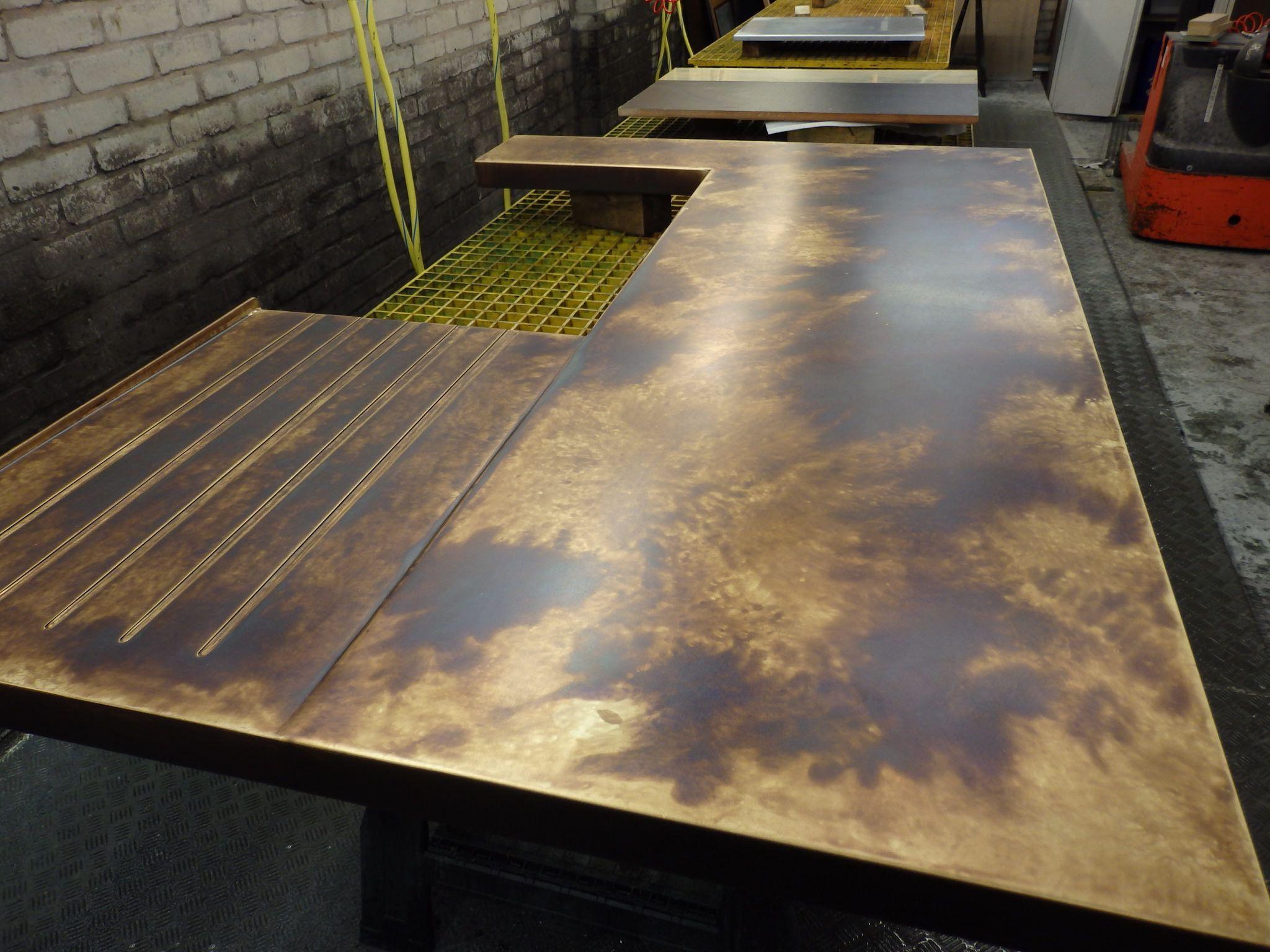 101 Brass Worktop Drainer For Belfast Sink Bronzed